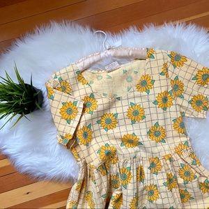 Vintage 90's Sunflower Baby Doll Cotton Dress